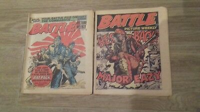 BATTLE PICTURE WEEKLY COMICS x2 ISSUES FROM 1976.