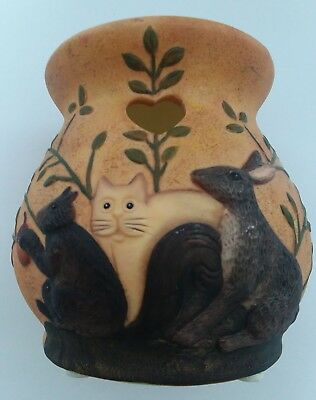 "Lang Candles Melting Pot Candle Holder 4"" Primitive  Creatures #85150303 cat"