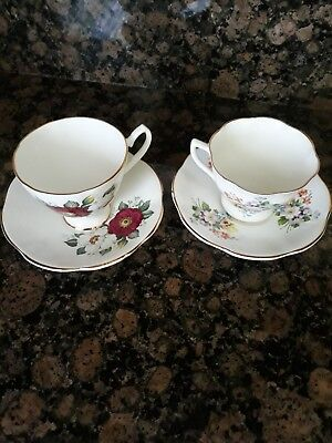 Vintage Crown Bone China Made In England Tea cups/Coffe cups & Saucers