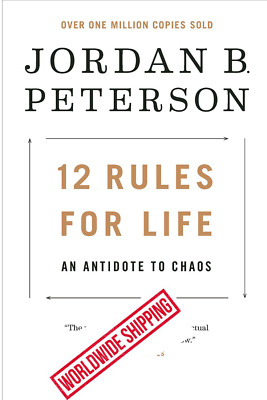 12 Rules for Life An Antidote to Chaos by Jordan Peterson Hardcover Book