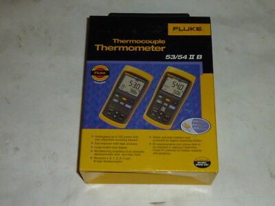NEW Fluke (54 II B) Thermocouple Dual Input Thermometer w/ Data Logging 54-2 B