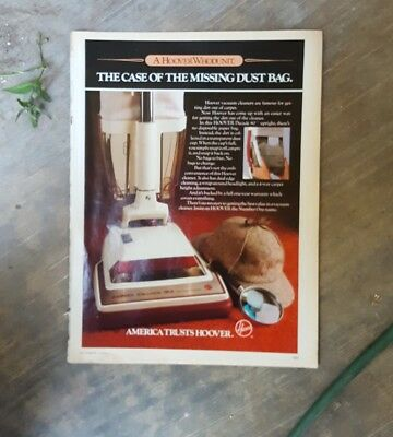1983 print ad-The case of the missing dust bag-Hoover Decade 80 vacuum cleaner
