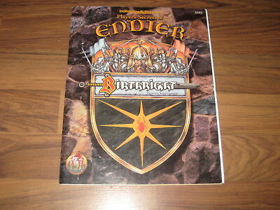 AD&D 2nd Edition BIRTHRIGHT Player's Secrets of Endier Accessory TSR 95