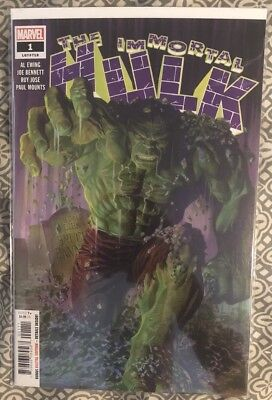 The Immortal Hulk #1 Alex Ross Cover Marvel NM