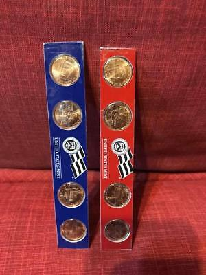 2009 P and D Lincoln Cent 8-Coins from US Mint Set UNC 1 Cent SATIN FINISH Penny