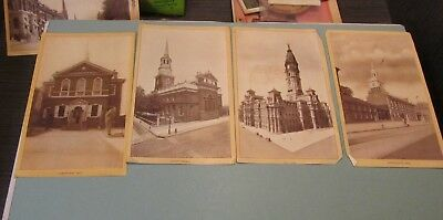 1900 Era Singer Sewing Machine Philadelphia Series 9 Souvenir View Card Set