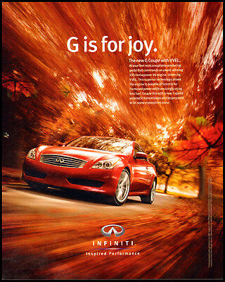 Infiniti Inspired Performance Print Ad 2008 (092511)