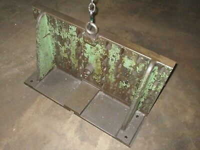 """Angle Plate 33.5"""" wide x19.625 high x 11"""" Deep with T-Slots Cast Iron"""