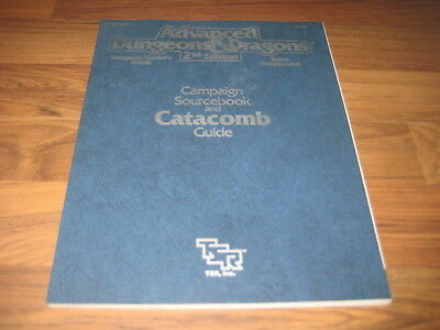 AD&D 2nd Edition Campaign Sourcebook and Catacomb Guide Rules Supplement TSR2112