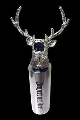 Rare Jagermiester New Silver Stag Head Speed Pourer Extension Free Shipping