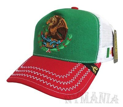 e58414d5 New MEXICO Snapback Hat, Mesh Back Mexican Federal Logo Flag Embroidered NWT