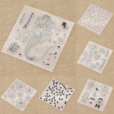 Various Transparent Clear Silicone Rubber Stamp DIY Scrapbooking Card Decor 1pc