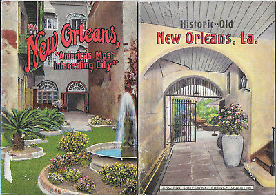 2 New Orleans Bklts – Historic Old New Orleans & Most Interesting City 1930s