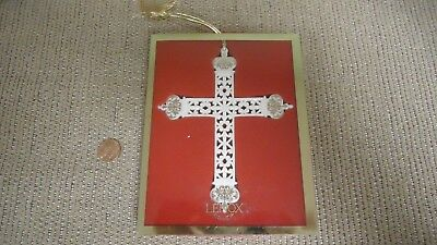Vintage Ornate Lenox Cross Ornament in Box- Made in USA