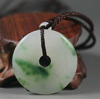 Chinese hand-carved natural jade Lucky Jade pendant bring peace