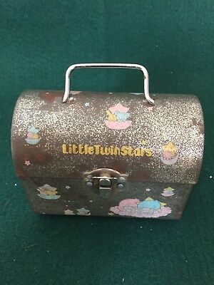 1976 Vintage Sanrio Little Twin Stars Tin Trunk * Made in Japan