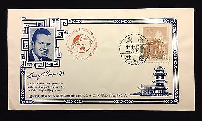 Leroy Gordon Cooper Chinese Postmarked Cover  Original Era