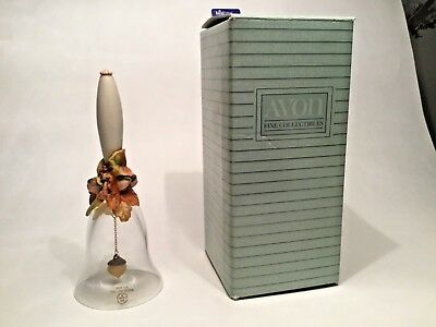 1988 Avon Harvest Bounty 24% Lead Crystal Bell Vintage In Box Collectible
