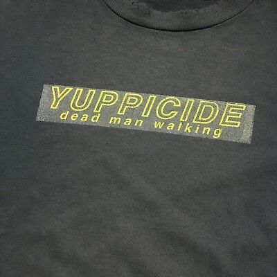 YUPPICIDE vintage 1995 longsleeve shirt XL distressed hardcore metal punk 1990s