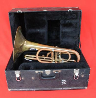 MERCEDES ~ Vincent Bach MARCHING MELLOPHONE with Decent Case ~ SALVAGE or Parts