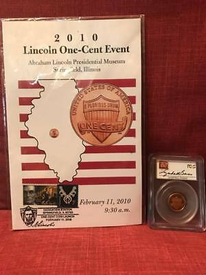 2010-S Lincoln Shield Cent Proof - PCGS PR69RD DCAM - Lyndall Bass Signed Label