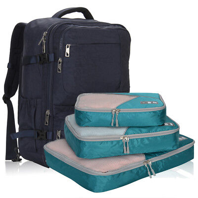 """44 Liter 22"""" Backpack Flight Approved Carry on Bag with 3pcs Set Cubes Gifts"""