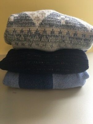 Men's Sweater Lot Of 3 XL Stefano United States Sweaters Pronto Uomo Wool
