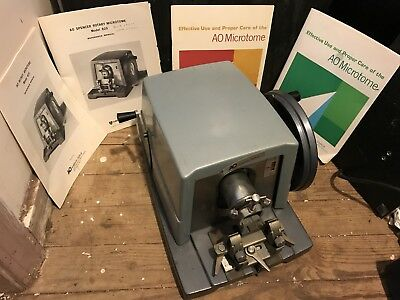 AO Spencer Rotary Microtome & Owners Manuals, Model 820