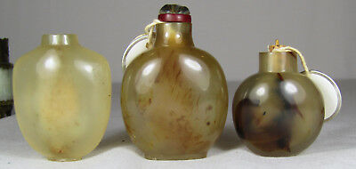 3 Chinese Agate 18Th/19Th C. Snuff Bottles, Sotheby's Parke Bernet Provenance