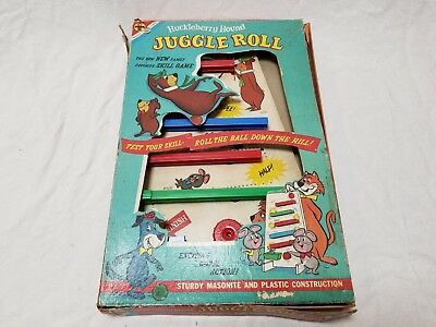 Vintage Rare 1959 Huckleberry Hound JUGGLE ROLL Marble Game-Nice Condition-HTF
