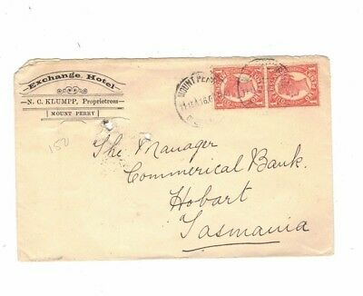 Queensland 1907 EXCHANGE HOTEL MT PERRY  Cover,cds MOUNT PERRY Qld