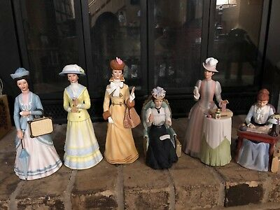 Avon Mrs Albee Award, Hand Painted Porcelain President Club Figurines, Lot of 11