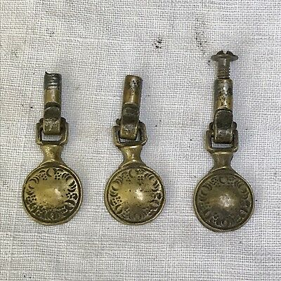Antique Drawer Pulls Drop Style Ornate Victorian Replacement Hardware Brass #16