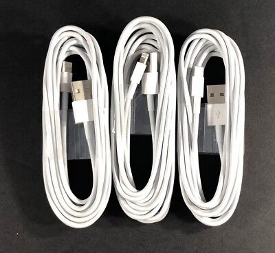 3 Pack 3/6/10Ft USB Cable Heavy Duty Fit i phone 5 6plus 7 Charger Charging Cord
