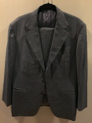 LH Napoli Mariano Rubinacci Fully Canvassed Gray Suit Italy $2,000 Surgeon Cuffs