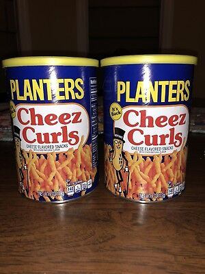 Planters Cheez Curls Cheese Snack New Release 2018 Limited Edition Fresh 2 Cans