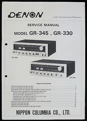 PIONEER GR-X540 ORIGINAL Stereo Equalizer Service Manual/Guide ... on
