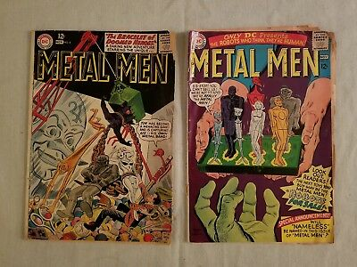 Metal Men 2 Issue Lot DC Comics 4 & 16 Silver Age 1963