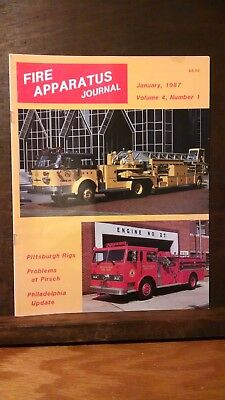 Fire Apparatus Journal Volume 4, Number 1, January 1987