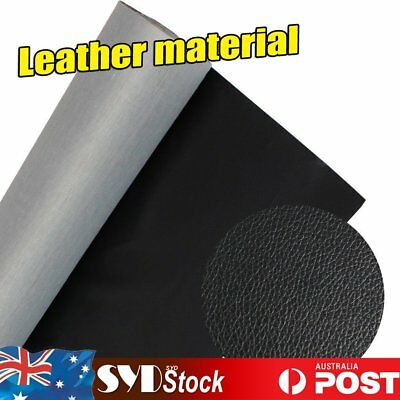 Black Faux Leather Material Vinyl  For Car Hatch SE Ute Repair Patch DIY Cutting