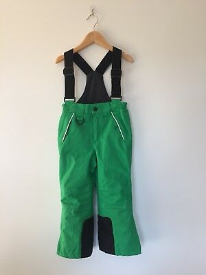 Kids Unisex Snow Ski Pants Thinsulate Insulated Green Size 4 Childs Overalls