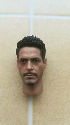 Tony Stark - Iron Man - Head - Kopf - Hot Toys - Sideshow - 1/6 scale - Custom
