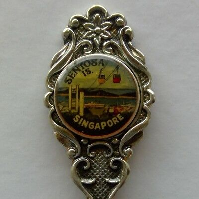 Sentosa Is. Singapore Cable Car Souvenir Spoon Teaspoon (T167)