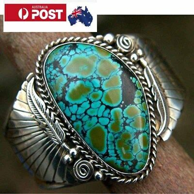 Women's, Size 9 Sterling Silver 925 Turquoise  Ring