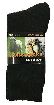 Merino Wool Blend Woolen Work Socks Hiking Heavy Duty Warm Winter 6-11
