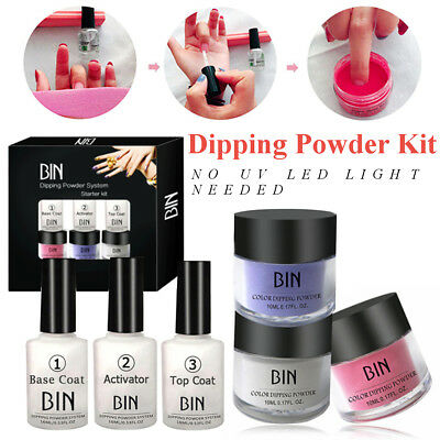 6/set Dipping Powder Tool Kits without Cure Dip Powder Nails Natural Dry Beauty