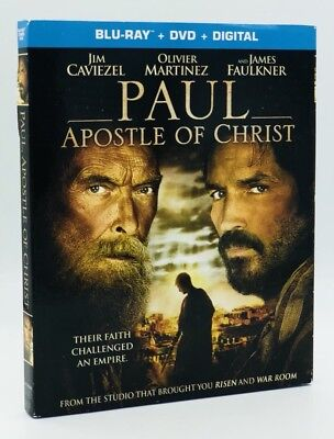 Paul, Apostle of Christ (Blu-ray+DVD+Digital, 2018; 2-Disc Set) NEW w/ Slipcover