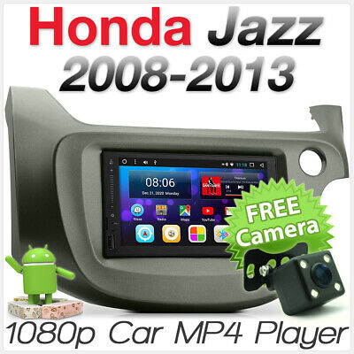 Android Car Radio Stereo GPS Honda Jazz Fit 2010 2011 Fascia Kit MP3 Head Unit E
