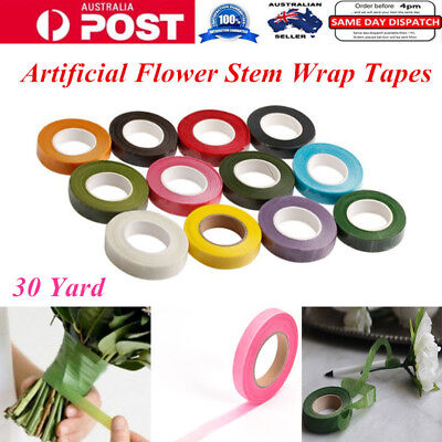 30 Yard Artificial Flower Bouquet Florist Craft Stem Wrap Adhesive Tapes