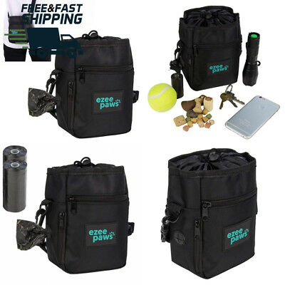 Ezee Paws Dog Walk and Treat Bag With Built-in Waste Poo Bags Dispenser...